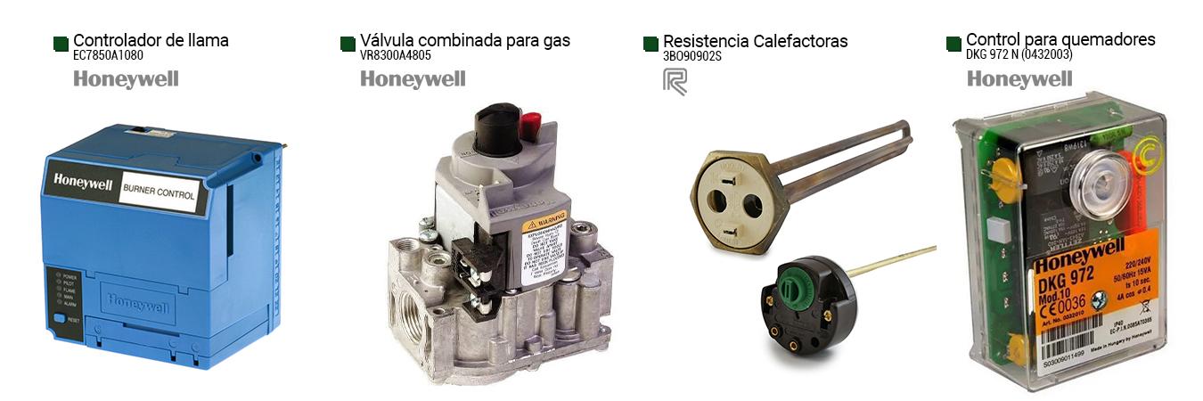 controlador de llama (ec7850a1080) valvula combinada para gas (vr8300a4805) resistencias calefactoras (3bo90902s) control para quemadores (dkg 972 n)