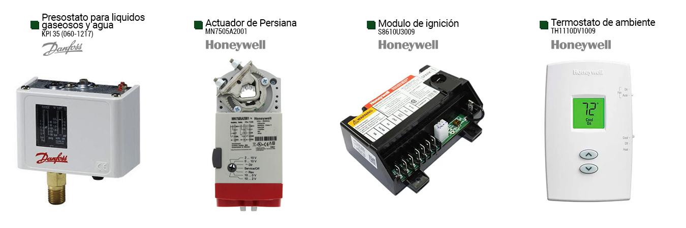 presostato para liquidos gaseosos y agua (kpi 35) actuador de persiana (mn7505a2001) modulo de ignicion (s8610u3009) termostato de ambiente (th1110dv1009)