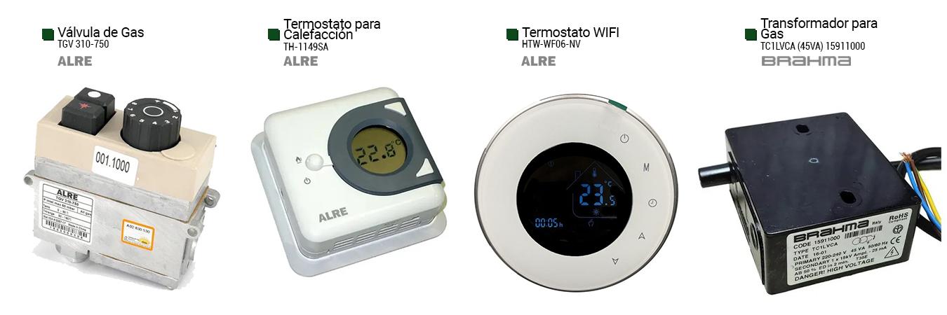 valvula de gas (tgv310-750) termostato para calefaccion (th-1149sa) termostato wifi (htw-wf06-nv) transformador para gas (tlc1lvca)